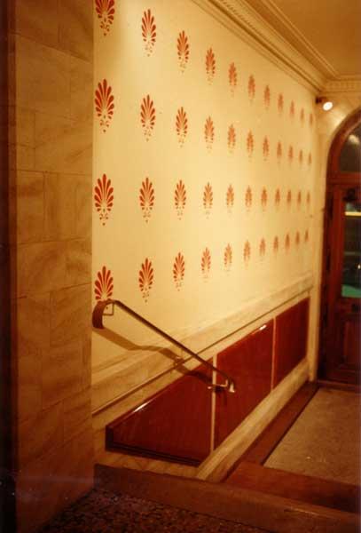 d cors peinture murale pour hall d 39 entr e d 39 immeuble. Black Bedroom Furniture Sets. Home Design Ideas